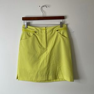 EP Pro bright yellow gold skort skirt size 4